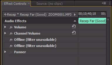 Premiere Pro Missing Audio Filters | L A  Color Pros Blog